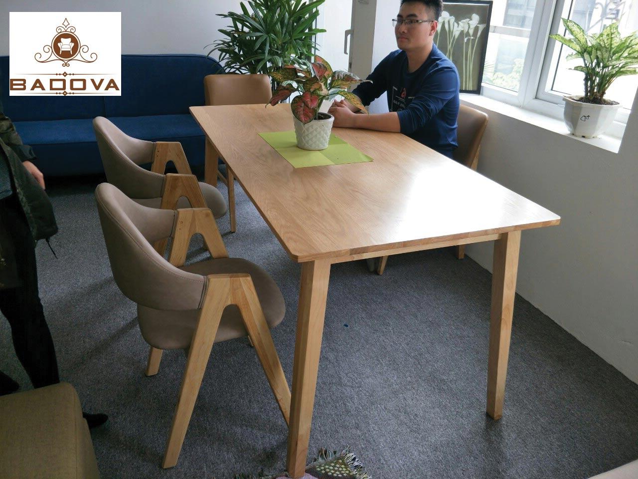 Bộ bàn gỗ sồi