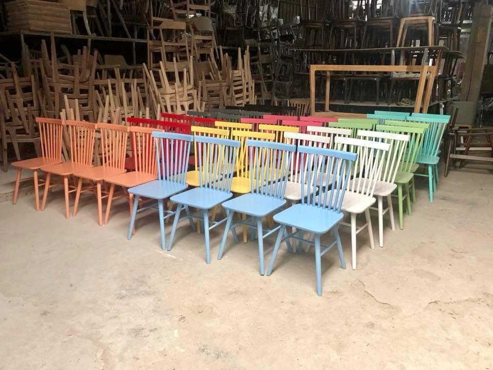 Ghế Pinnstol 8 song nhiều màu sắc giá rẻ