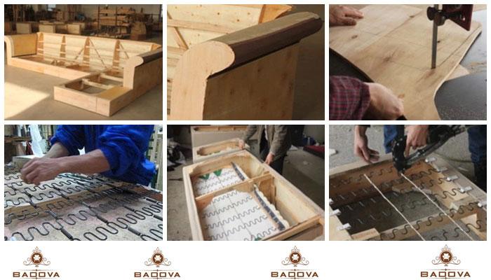 quy trình sản xuất sofa