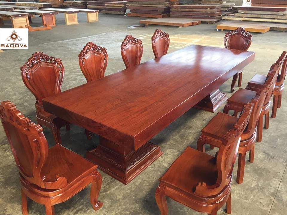 5 ưu điểm của bàn ghế ăn nguyên khối gỗ tự nhiên sử dụng công nghệ Nano