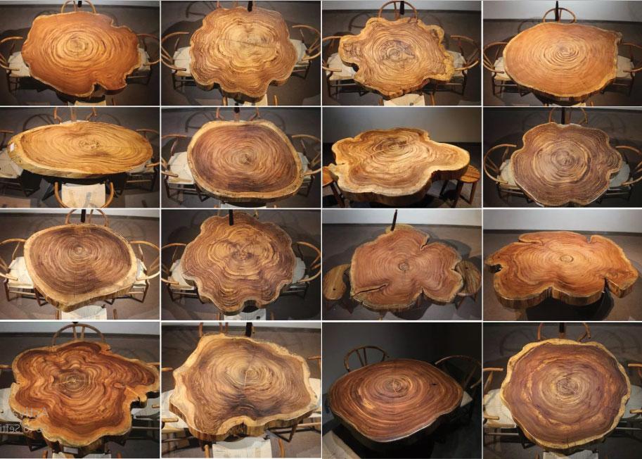 Kiểu dáng bàn ghế ăn nguyên tấm
