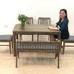Bộ bàn ăn 6 ghế công nghệ Nano