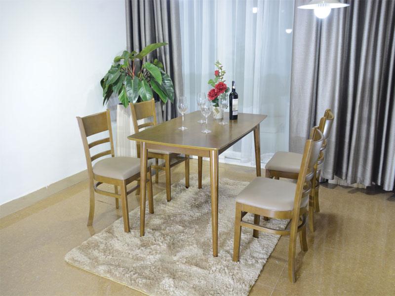 Mẫu 1: Bộ bàn ăn 6 ghế mostar gỗ tự nhiên giá rẻ