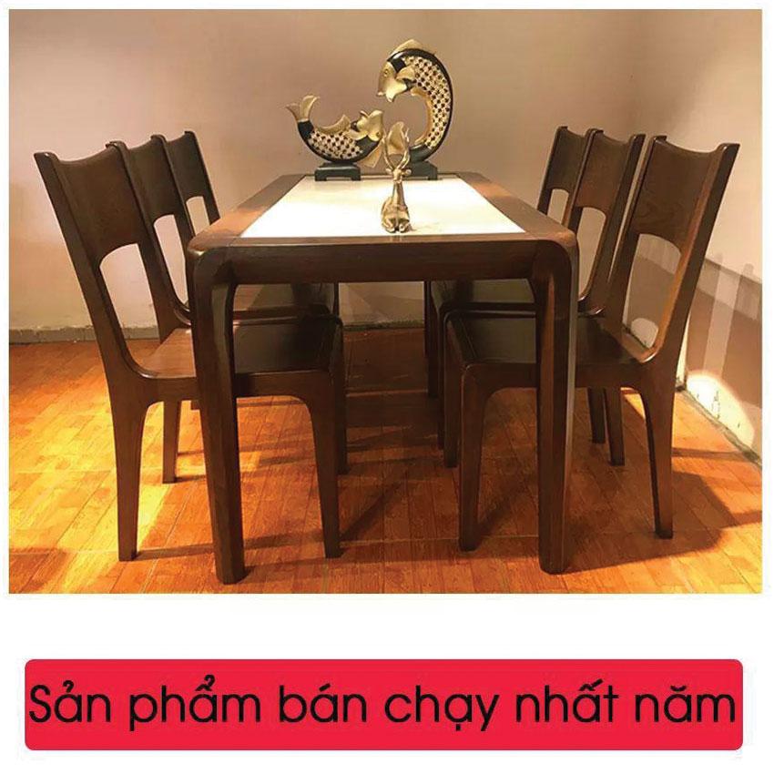 Bộ bàn 6 ghế ăn có thiết kế đẹp