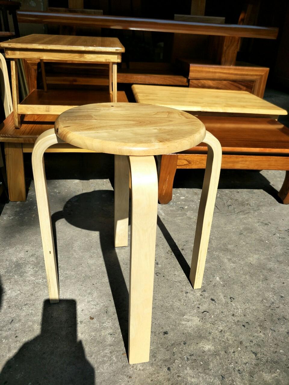 ghế ăn đôn chân gỗ tự nhiên