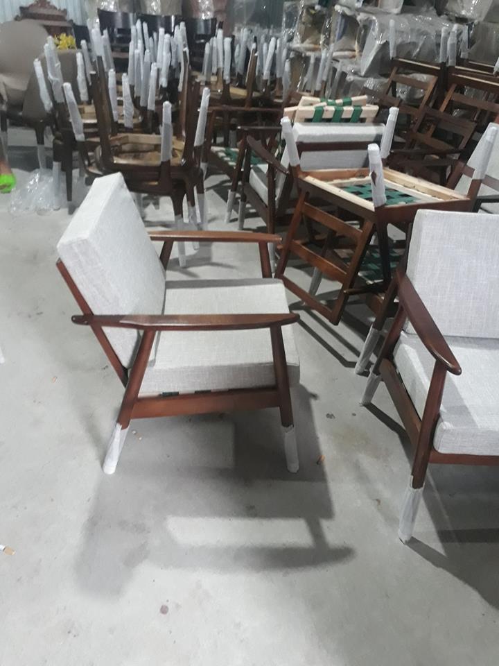 ghế ăn sofa đơn gỗ sồi