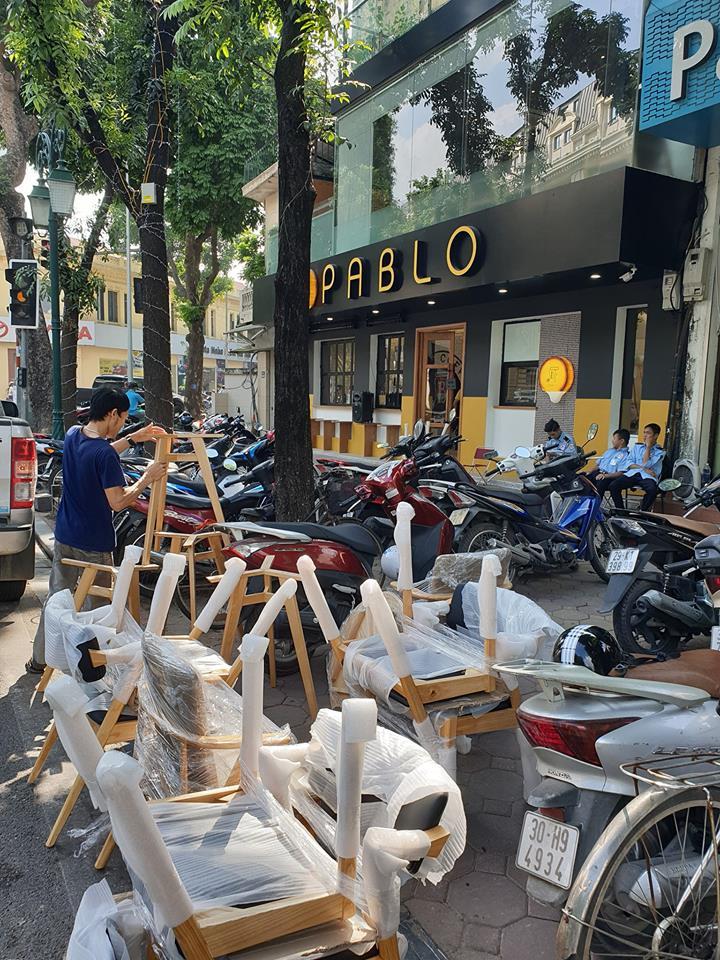 Giao bàn ghế ăn cafe cho cửa hàng Baplo