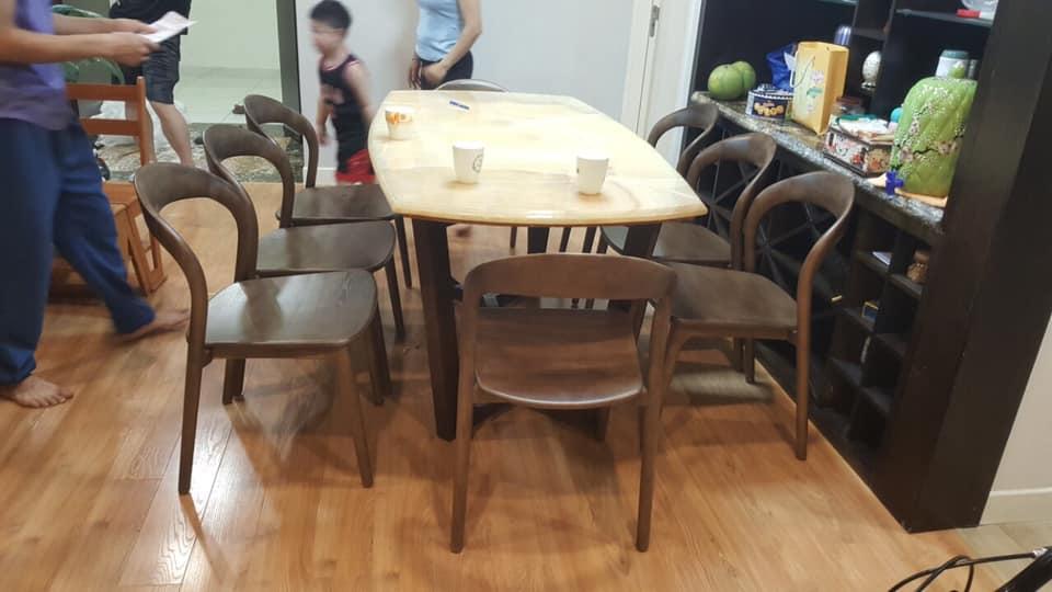 giao bàn ăn đá 6 ghế
