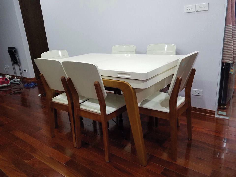 Giao bộ bàn ăn 6 chỗ thông minh cho anh Tuấn ở Hà Đông