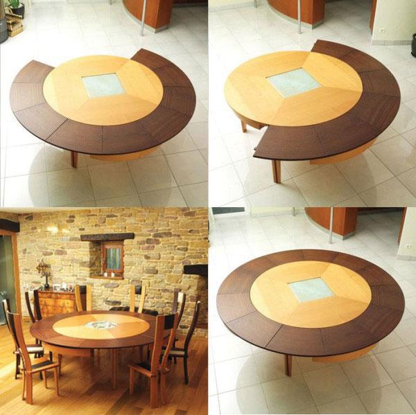 Mẫu 1: Mẫu bàn tròn hiện đại thông minh sơn phủ Nano