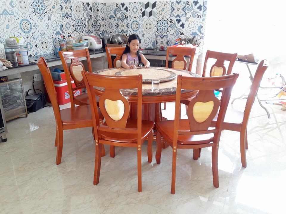 Giao bàn đá tròn 6 ghế cho khách Ba Đình
