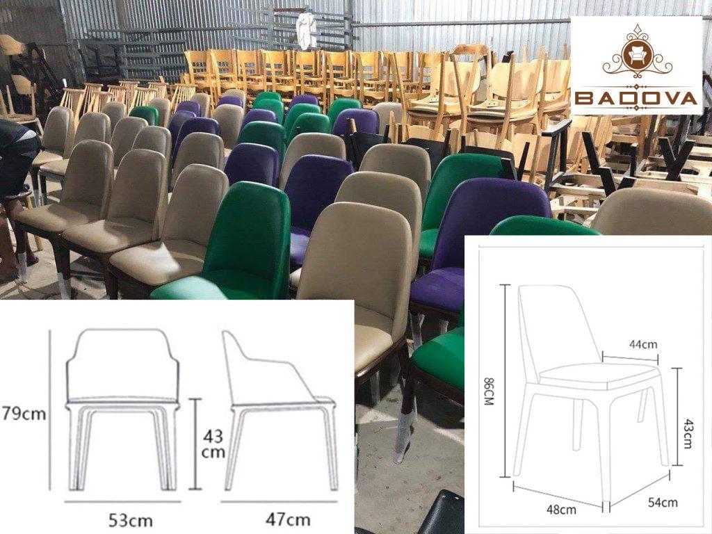kích thước dòng ghế Grace có tay và không có tay