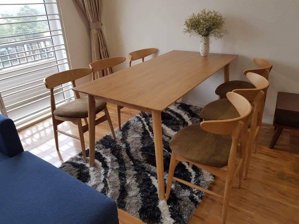 Mẫu bàn 4 ghế gỗ Sồi