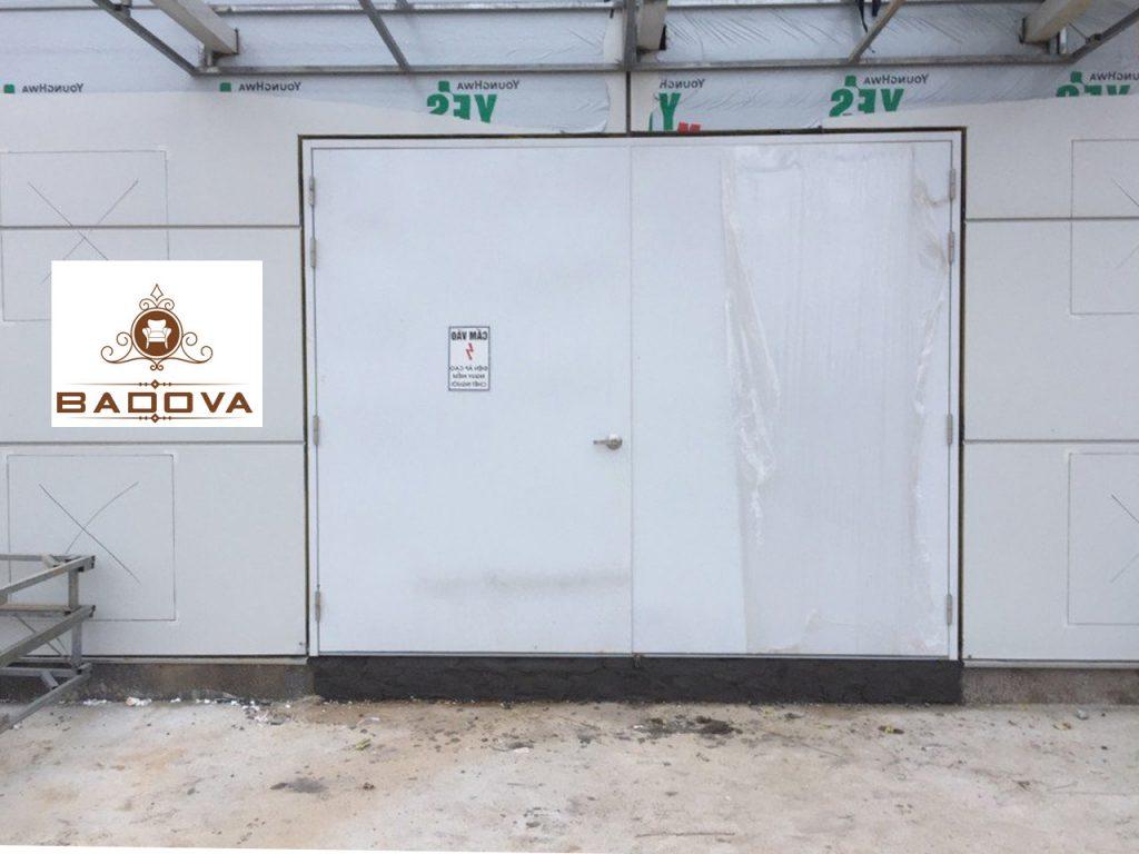 mẫu cửa thép 2 cánh chống cháy