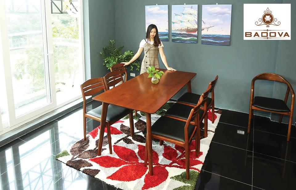 Kích thước tiêu chuẩn bàn ghế ăn 6 người