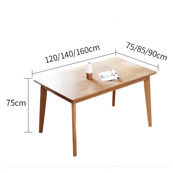 kích thước bộ bàn ăn Osaka