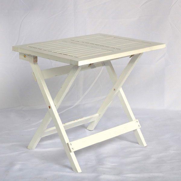 ghế cafe vuông f50 màu trắng gỗ tràm