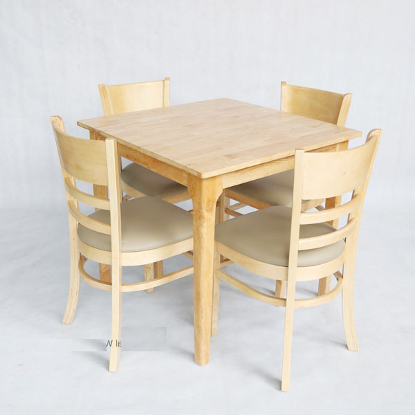 bàn cafe vuông 80cm màu gỗ tự nhiên
