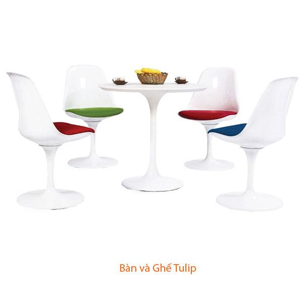 bàn và ghế Tulip