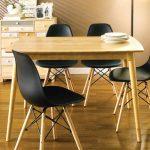 Bộ Bàn Ăn 4 Ghế Eames màu đen