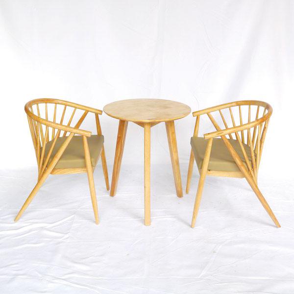 Bộ set bàn gồm 2 ghế 12 nan và 1 bàn 3 chân