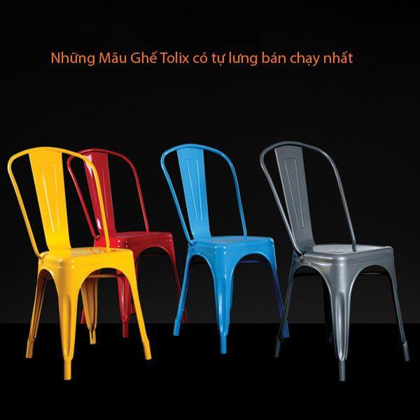 4 màu ghế tolix bán chạy nhất hiện nay