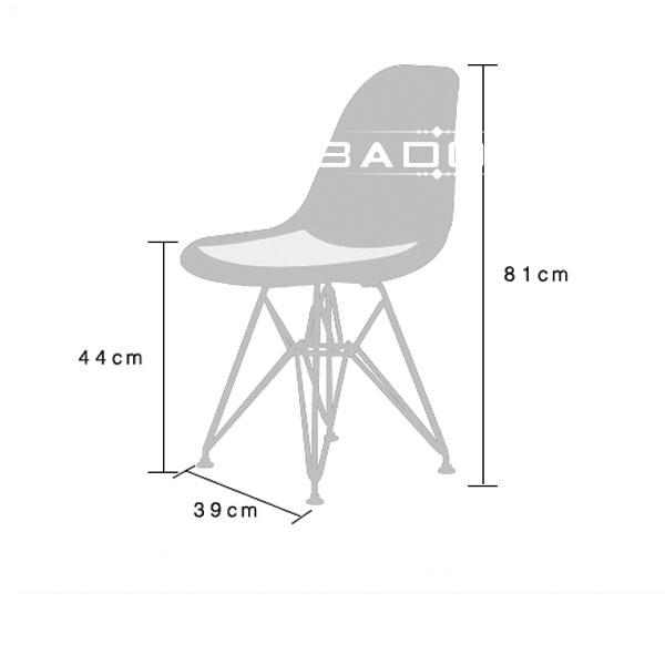 kích thước ghế chân inox