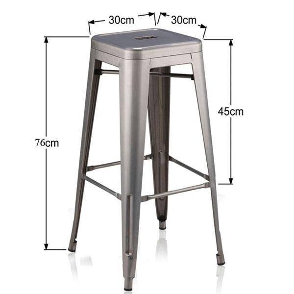 Kích thước chi tiết ghế tolix bar