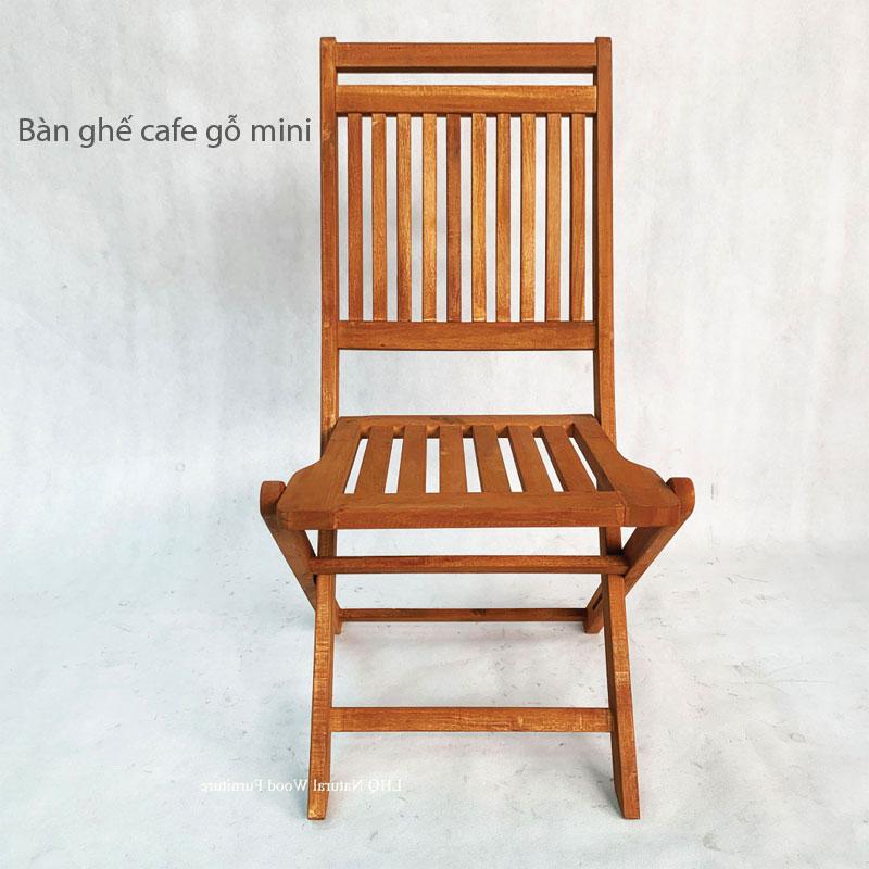 Bàn Ghế Gỗ Cafe Mini