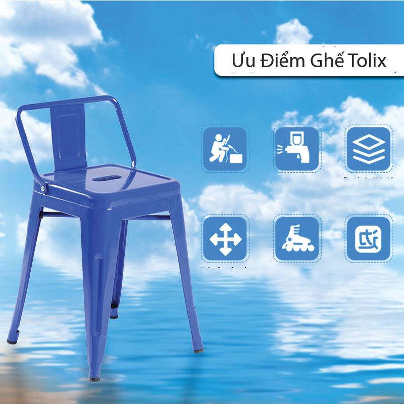 Ưu điểm của ghế sắt cafe tolix