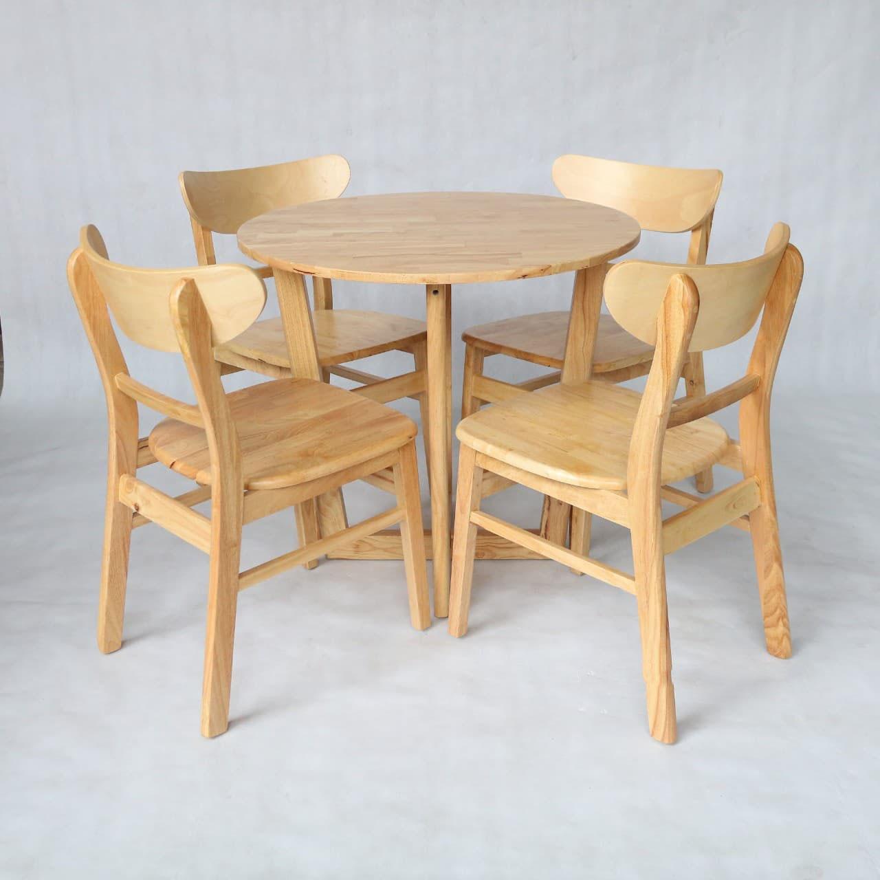 Bộ bàn ăn Mango 4 ghế gỗ tự nhiên