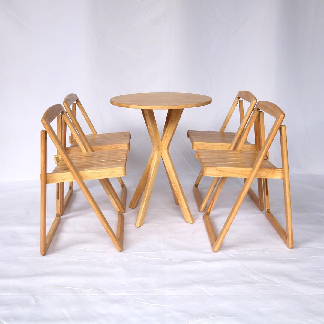 bàn ăn thông minh gấp gọn 4 ghế