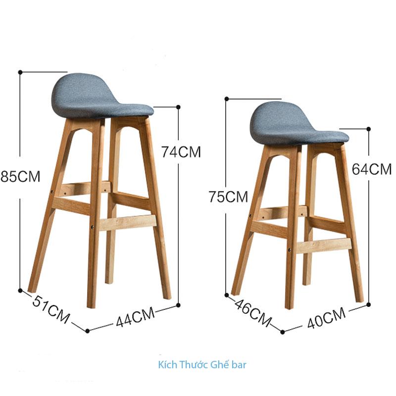 kích thước ghế bar