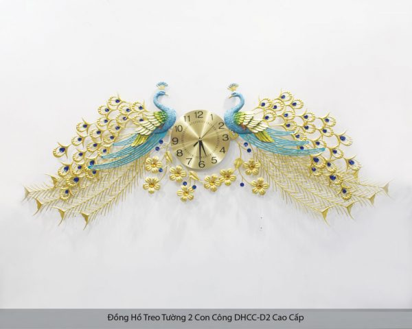 Đồng Hồ Treo Tường 2 Con Công DHCC-D2