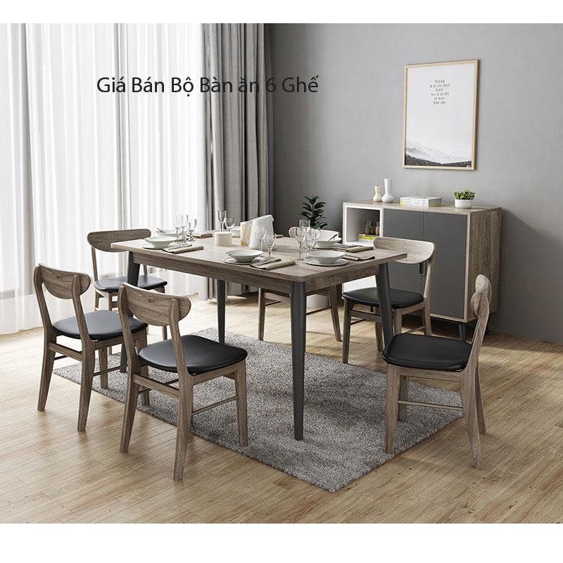 giá bán sản phẩm bộ bàn ăn 6 ghế