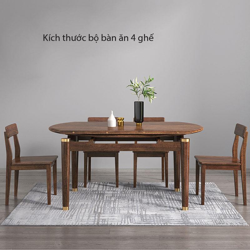 Kích thước Bộ bàn ăn 4 ghế