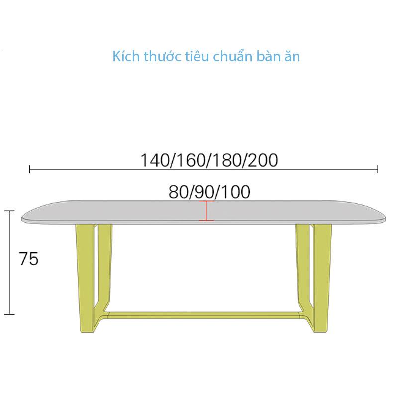 bảng kích thước tiêu chuẩn bàn ăn
