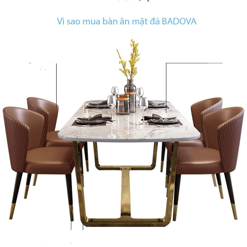 Vì sao nên chọn bộ bàn ghế ăn mặt đá BADOVA