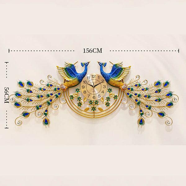 Đôi Phượng Hoàng có kích thước lên tới 1m56 dành cho những gia đình có khoảng tường rộng, Treo ở phòng khách phía sau sofa
