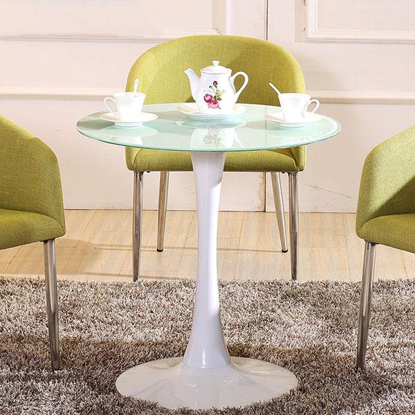 Bàn Cafe Tulip Đường Kính D60cm Màu Trắng